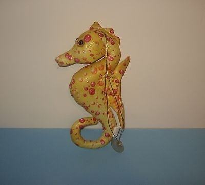 "Yellow Red Bubbles 12"" Seahorse Suction Window Cling Stuffed Plush by Fiesta"