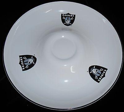 Nice Quality PFALTZGRAFF Oakland Raiders CERAMIC Party Tray CHIP 'n -