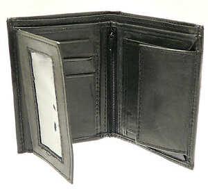 Black-Leather-Credit-Card-Holder-Wallet-Coin-Storage