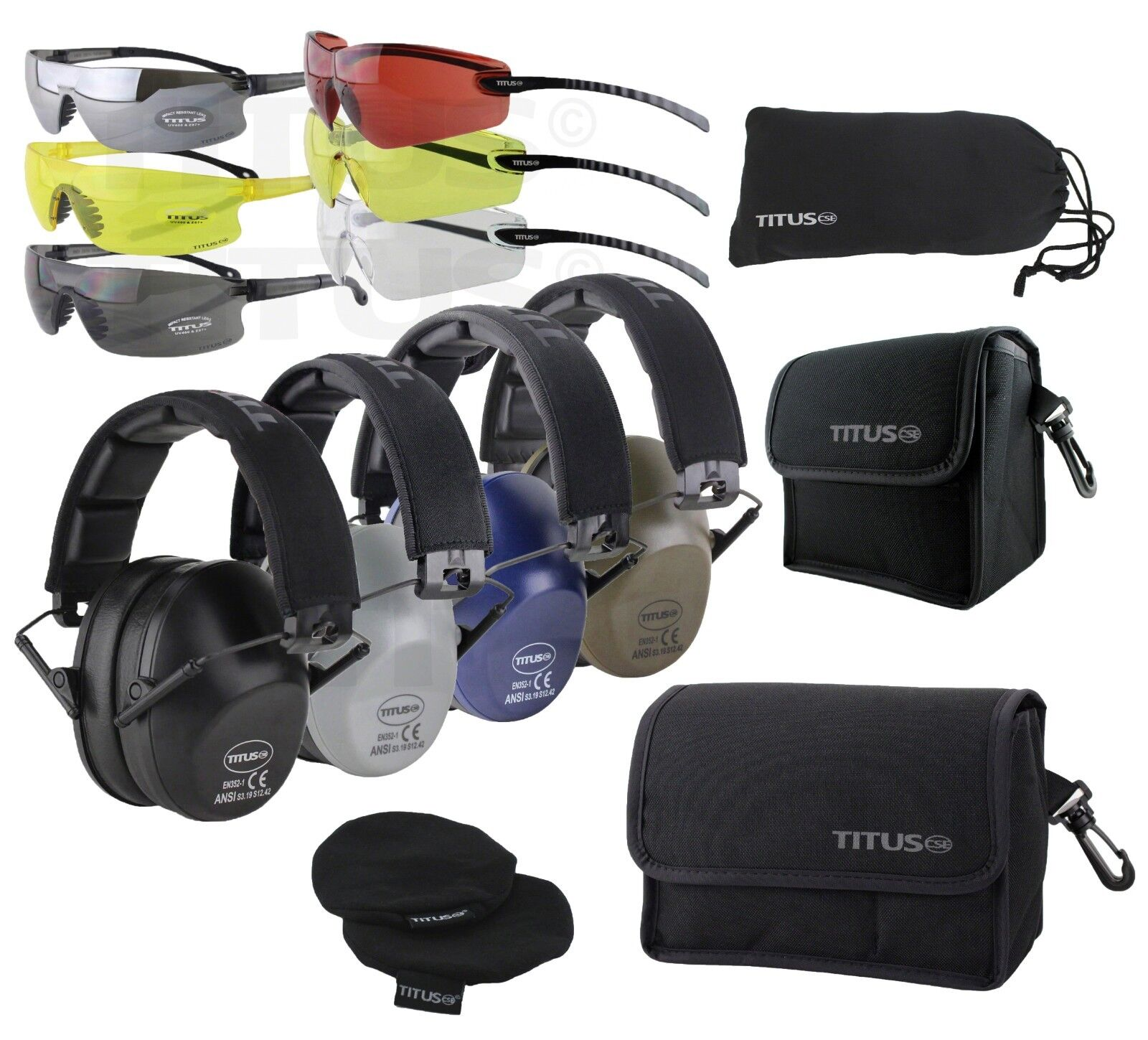 TITUS 2 Series Low Pro 34 NRR Ear Protection Safety Glasses