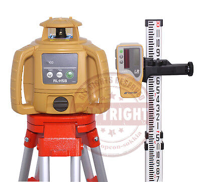 New Topcon Rl-h5b Self-leveling Rotary Laser Level Package Transitrl-h4cinch
