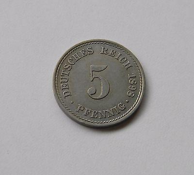 KAISERREICH: 5 Pfennig 1898 A, J. 12, fast stempelglanz