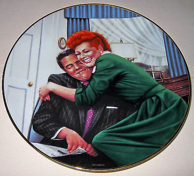 LUCILLE BALL I Love Lucy & Desi THE BIG SQUEEZE Hamilton Plate-NEW IN BOX + COA
