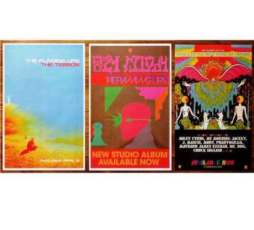 THE FLAMING LIPS Oczy Mlody The Terror With A Little Help Ltd Ed 3 Posters Lot!