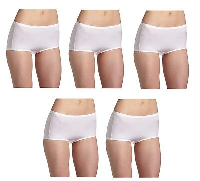 5 Vanity Fair Body Caress Panties Silky Satin Briefs 13138 White 6 7 8 9