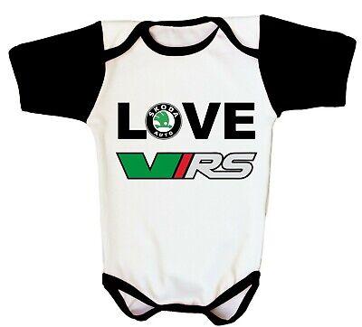 - Skoda Vrs Logo Baby Bodysuit WRC Newborn Infant One Piece Toddler T-shirt Gift