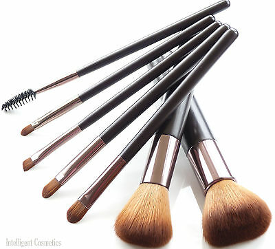 mineral makeup professional synthetic hair 7 pce brush SET best quality (Best Quality Makeup Brush Sets)