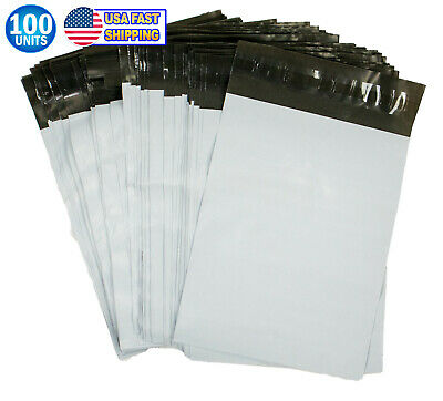 6.9 White Poly Mailer Envelopes Shipping Bags Self Adhesive Postal Bag 100