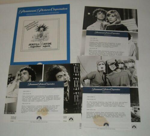 1982 JEKYLL & HYDE TOGETHER AGAIN PROMO MOVIE PRESSBOOK 3 PHOTOS MARK BLANKFIELD