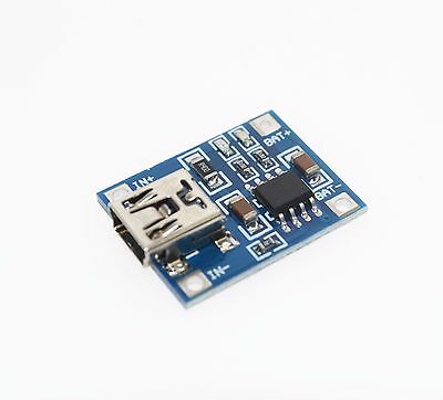 TP4056 Lithium Battery LiPo Charger Module Charging Board 5V Mini USB 1A Arduino