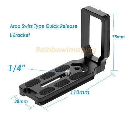 CNC Universal Quick Release L Plate Bracket Arca Swiss Nikon D5300 D5500 D5600