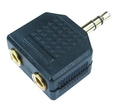 3.5mm Jack Plug Audio Cable Headphone Splitter Aux One to Two Outputs 1 into 2