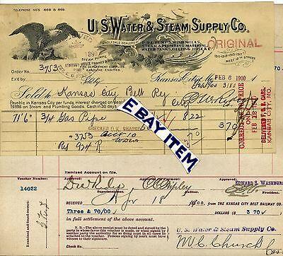 Party City Missouri (1900 Billhead KANSAS CITY Missouri U.S. WATER & STEAM SUPPLY COMPANY KC)