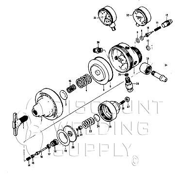 Repair Kit - Victor Vts410 Two-stage Acetylene Regulator Reg Vts 410 Avvts410rk