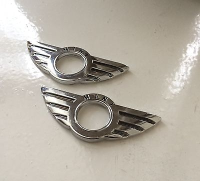 MINI COOPER 2 X DOOR LOCK PIN KNOB EMBLEM BADGES STICKER SET OF 2