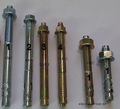 Super Schwerlastanker M 16 x 200mm Schwerlastdübel Metallanker Hebebühnenanker