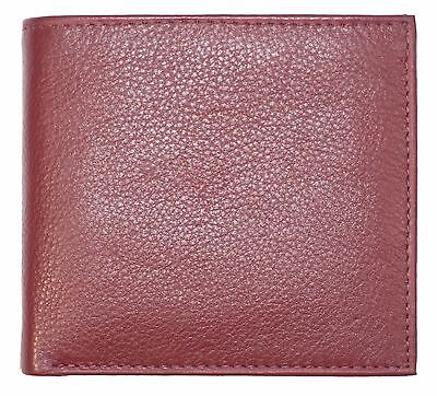 Bifold Mens Wallet Hipster Large Thick 20 Credit Card- Double ID Holder Burgundy