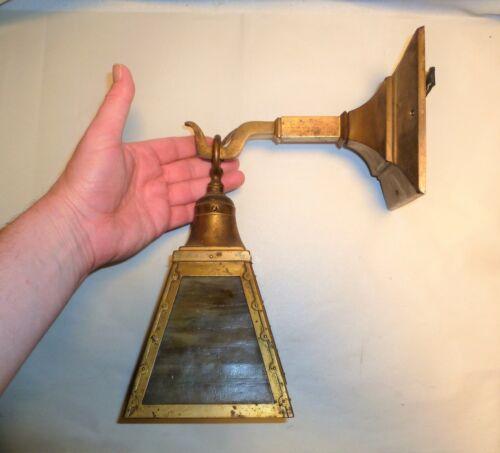 Vintage Wall Sconce Lamp Slag Glass - Arts & Crafts - Needs Restoring