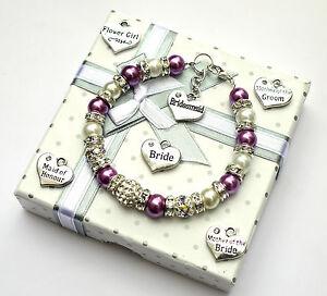 Personalised-Bridesmaid-Bride-Wedding-Flower-Girl-Birthday-Gift-Charm-Bracelet