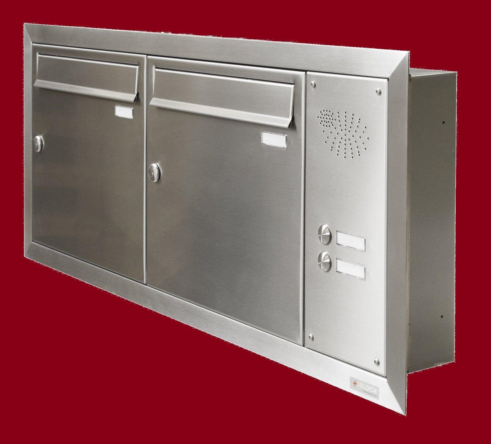 unterputz briefkasten anlage edelstahl 2 teilig klingel wand einbau uph116 eur 681 50. Black Bedroom Furniture Sets. Home Design Ideas