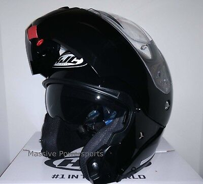 HJC CL-MAX3 Motorcycle Helmet Black M MD Medium Modular (Cl Max Modular Motorcycle Helmets)
