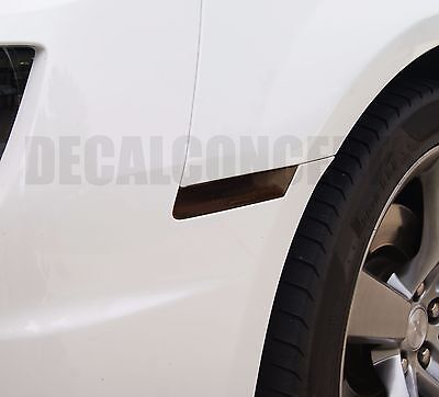 2010-2015 Camaro Front & Rear Side Marker Smoked Tint Decal kit - Chevy