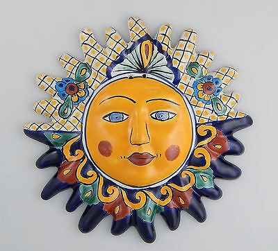 Mexican Talavera  Ceramic Sun Face Wall Decor Hanging Pottery Folk Art  # 10