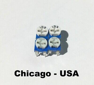 4pcs - 10k 2pcs And 50k 2pcs Variable Trim Potentiometer Pots - Usa