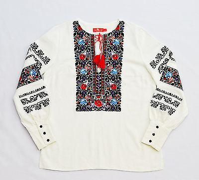 Ukrainian *HANDMADE* embroidered shirt for ladies vyshyvanka, sorochka, blouse