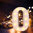 Letter o night light