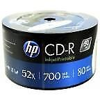 HP CD-R 700 MB Inkjet Printable 50 stuks