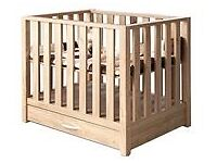 Babystyle Bordeaux playpen / cotbed with drawers