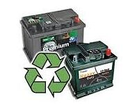 WANTED ALL UNWANTED CAR VANS TRUCK BATTERIES . ALL AREAS SAME DAY COLLECTION