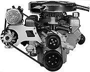 63 64 65 66 Riviera A C Compressor Mounting Bracket With A C Compressor