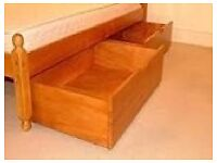 WANTED pine under bed storage drawers