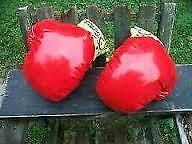 Excellent Condition: Pair Of Red Boxing Gloves