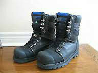 size 11 vibram steel toe boots  - leather / insulated