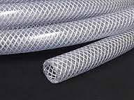 1 in.  clear Braided PVC Tubing/Hose