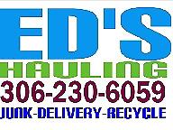 ED''S HAULING JUNK REMOVAL 306 230 6059   SASKATOON