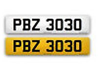 PBZ3030 - Dateless PERSONAL PRIVATE VEHICLE REGISTRATION PLATE/NUMBER -Offers considered