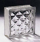 Glass Blocks in Multifaceted diamond pattern, NEW