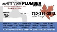 $0 OT/WEEKEND CHARGES! TIME FLEXIBLE HOUSEHOLD PLUMBER