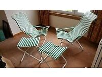 FOLDING GARDEN FURNITURE SET - GOOD CONDITION - £50
