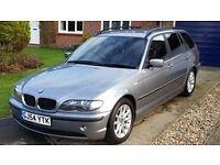 BMW 3 Series, 2.0L, Full service history, 10 months MOT, 79K, Metallic Grey, Estate, Great condition