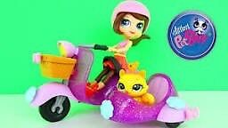 Lps 2013 Blythe with scooter play set littlest pet shop
