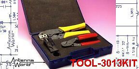 Tool Kit Crimper Stripper Cutter Coaxial Cable Connector RG-58 LM-195 240 RG-8X