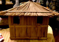 Straw / bamboo house from Indonesia, purchased at 3rd world baza
