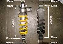 99 to 02 r6 rear shock for rz350 conversion