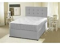 Rapid Delivery Bed 25cm Mattress & Headboard Single Double King Superking