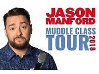 2 x Jason Manford Tickets - 15th June 2018 Manchester Apollo